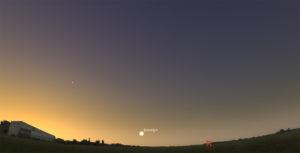 Венера на небе в июле