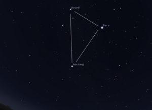 летний треугольник на небе в июле