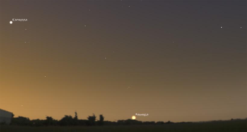 Венера утром в июле 2017 года
