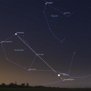 Венера в Гиадах и рядом со звездой Альдебаран 13 — 17 июля
