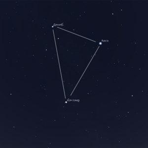 Большой летний треугольник — главный звездный рисунок на летнем небе