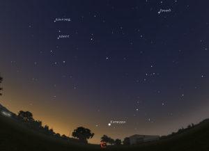 звезда Капелла на небе летом