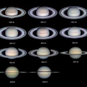 Луна и Сатурн в ночь с 6 на 7 июля 2017 года