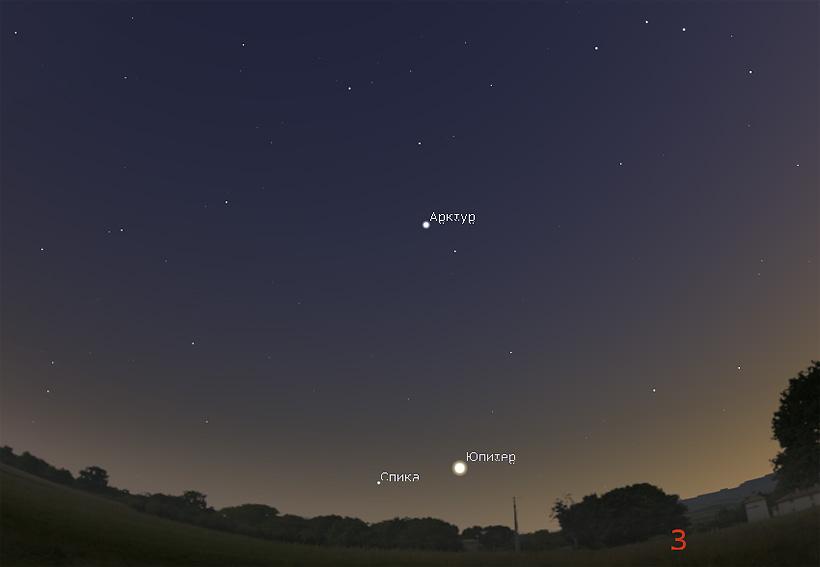 Юпитер в июле 2017 года