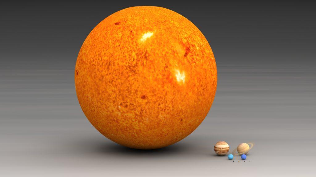 размеры Солнца и планет
