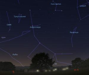 созвездие Андромеды в марте