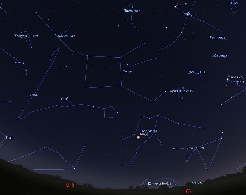 звездное небо в декабре