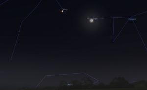 Луна и Марс в ноябре 2018 года