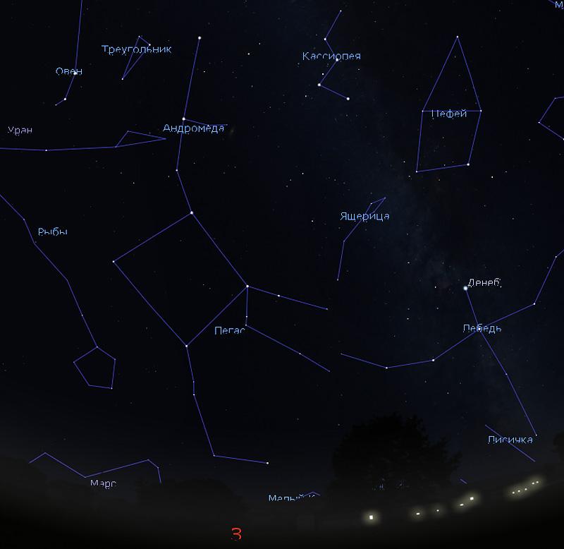 декабрьское звездное небо