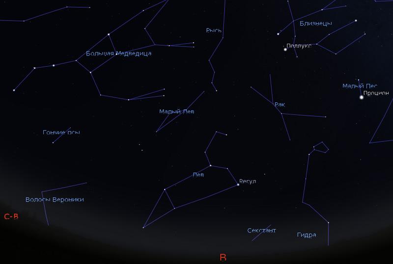 созвездия на небе в декабре