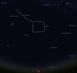созвездие Андромеды на небе