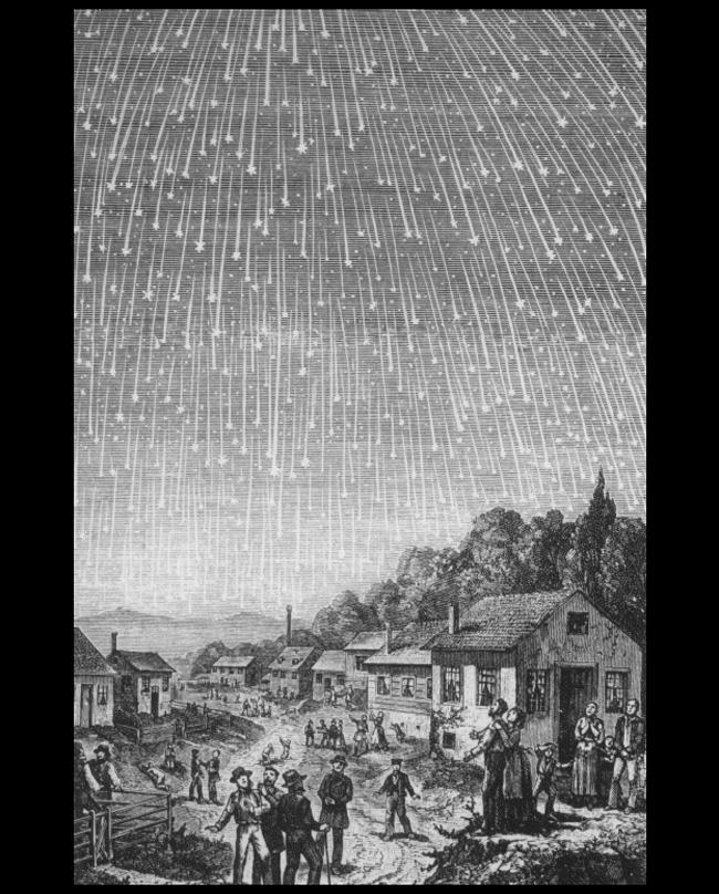 метеоры из потока Леониды