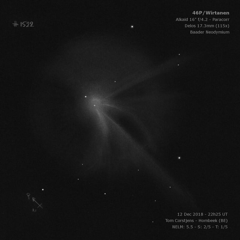 комета Виртанена в телескоп