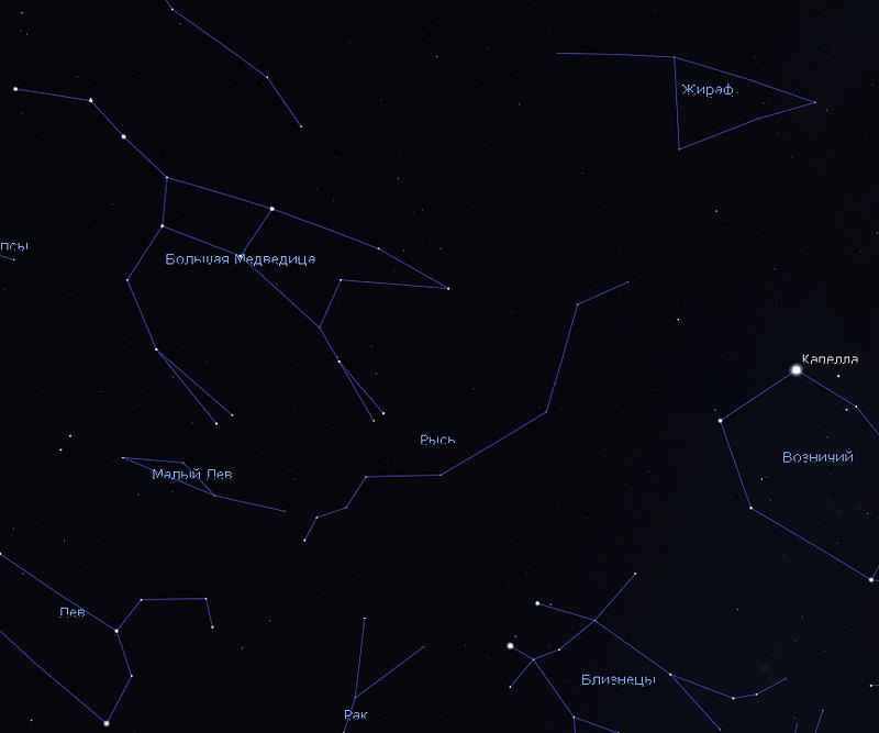 где на небе наблюдать Квадрантиды