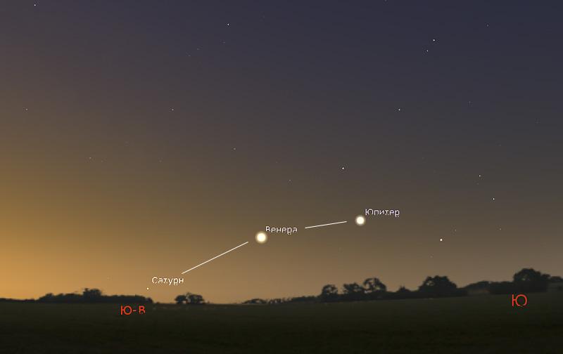 Венера в феврале 2019 года