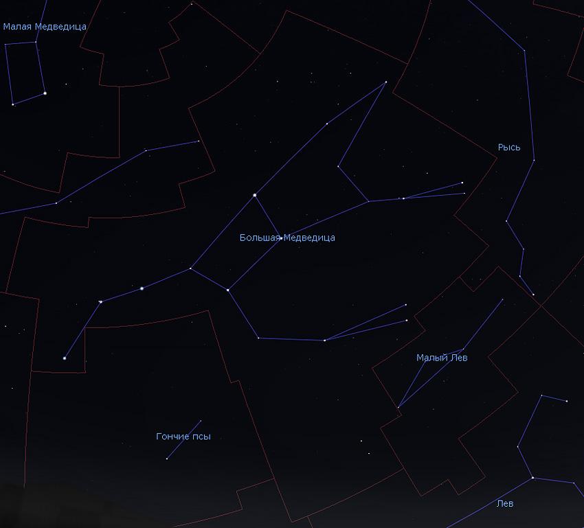 границы созвездия Большой Медведицы
