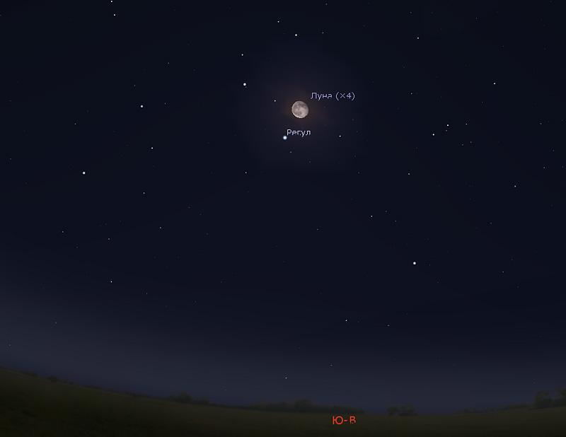 Регул и Луна