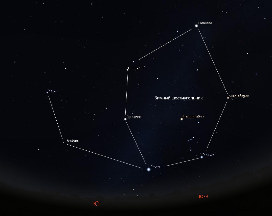 звезда Альфард на небе