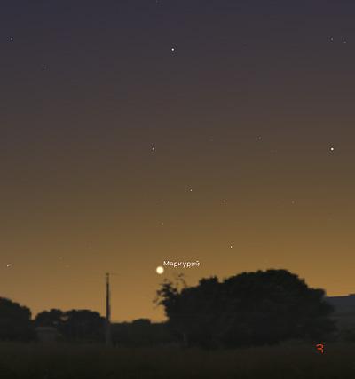 Меркурий в феврале 2019 года
