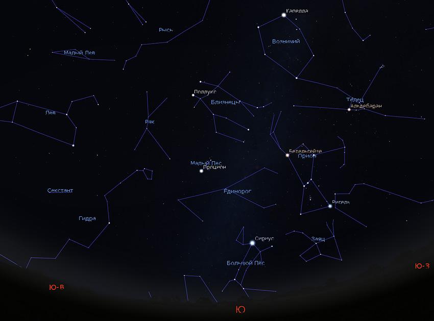 созвездия Рака и Гидры