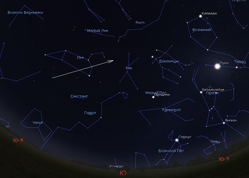 комета Ивамото в феврале 2019 года