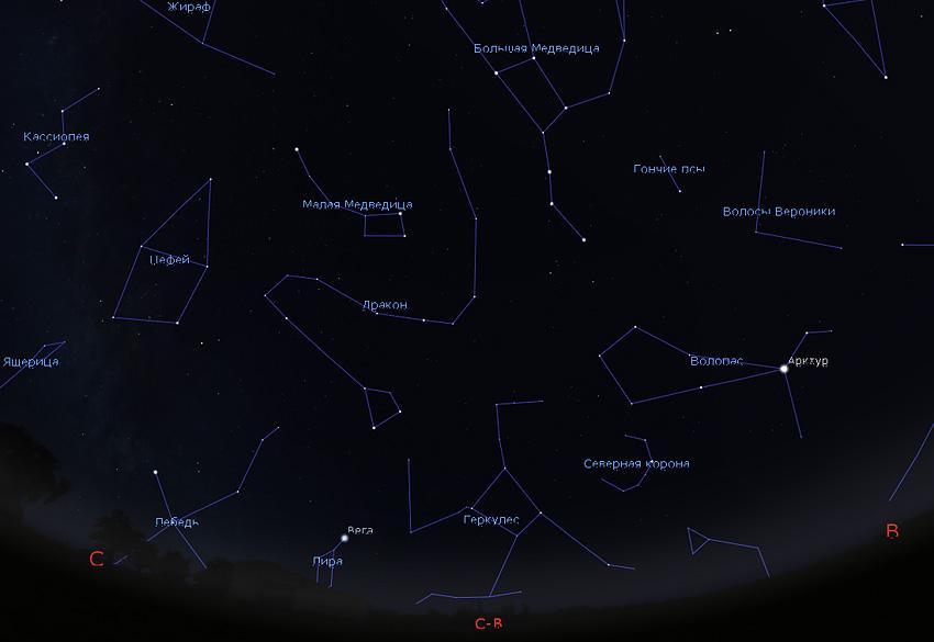 звездное небо в феврале