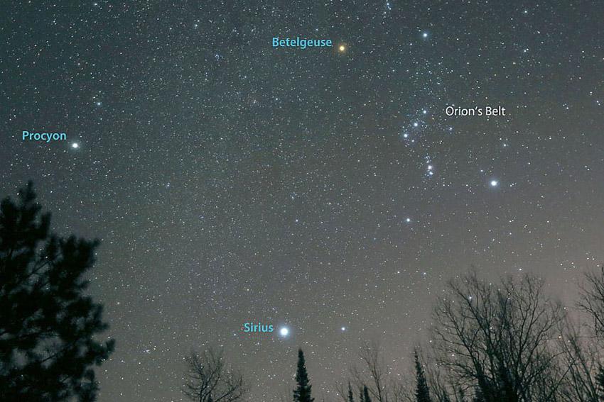 зимние созвездия