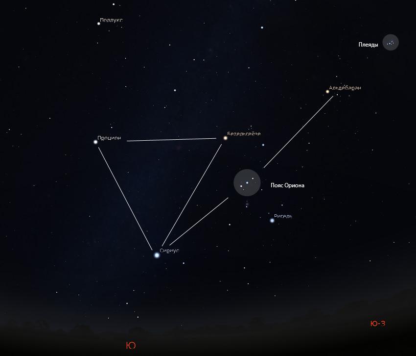 астеризм зимний треугольник