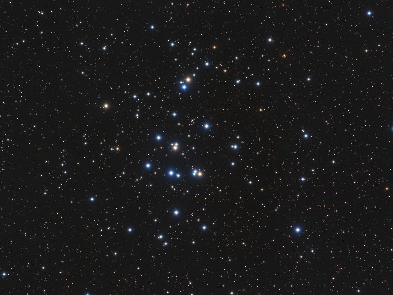 М44 в созвездии Рака