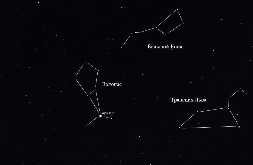 созвездие Волопаса на небе