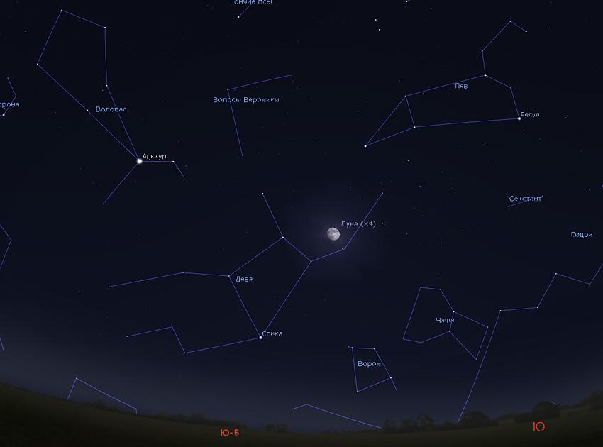 весенние звезды Арктур и Спика
