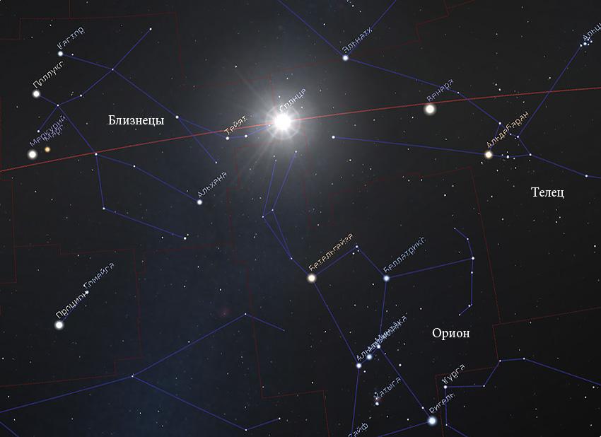 Солнце в созвездии Тельца