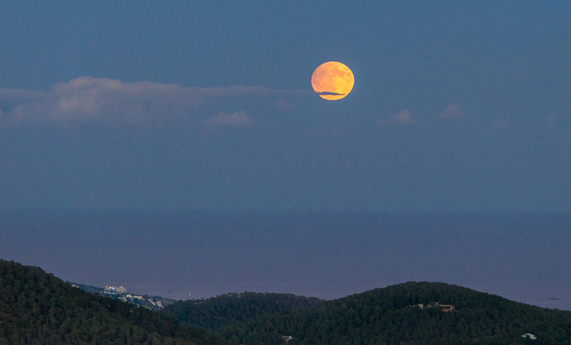 полная Луна летом