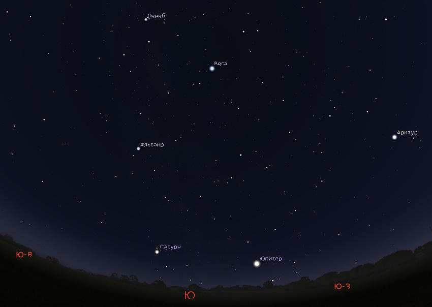 звезды и планеты на летнем небе