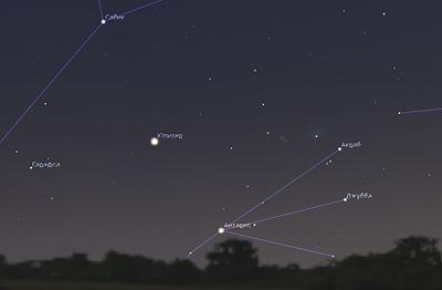 Антарес и Юпитер в августе