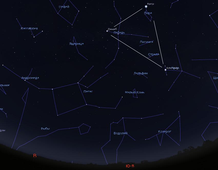 Пегас и Андромеда на небе