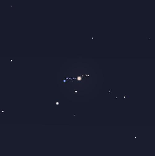 Нептун на небе в сентябре 2019