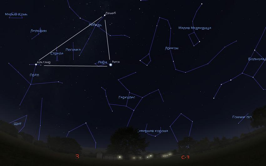 звездное небо в сентябре 2019 года