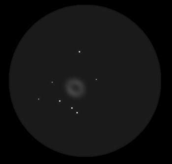 туманность М57 в телескоп
