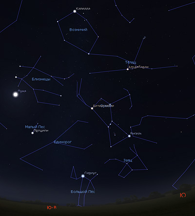 звездное небо в сентябре утром