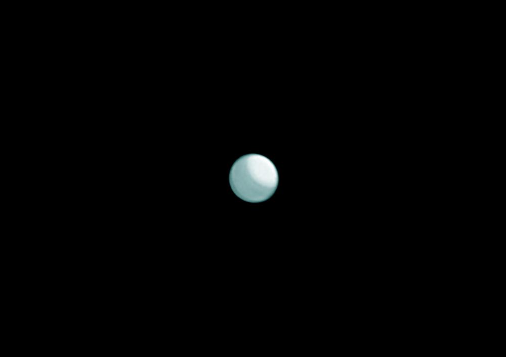планета Уран в телескоп