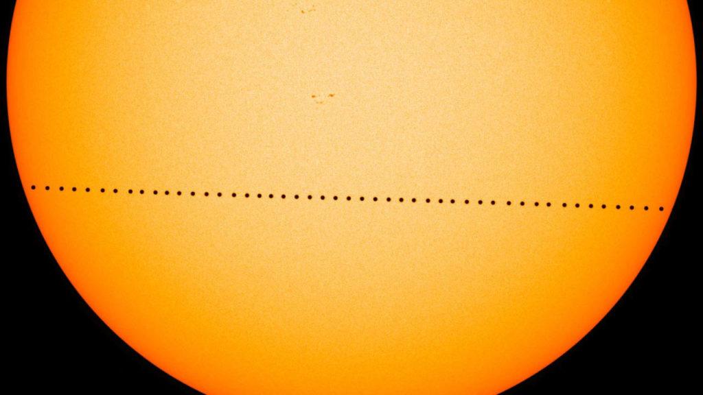 транзит Меркурия по диску Солнца в 2016 году