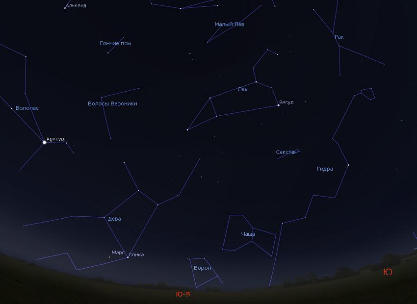 звездное небо утром в ноябре