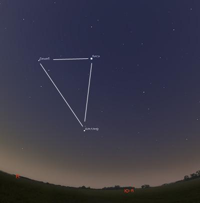 летний треугольник на небе