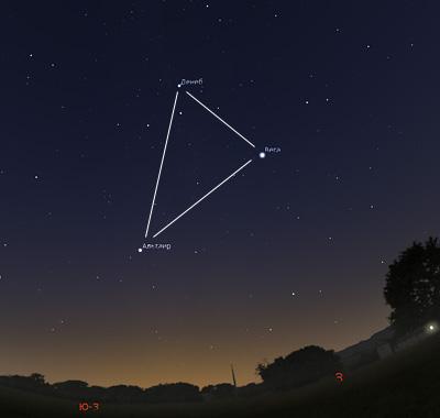 Летне-осенний треугольник на небе