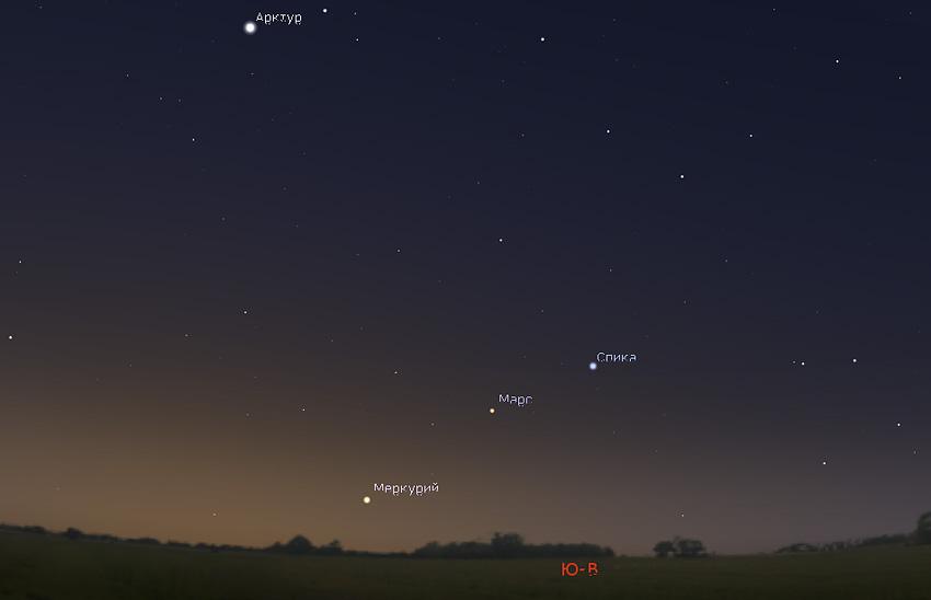 Меркурий и Марс в ноябре 2019 года
