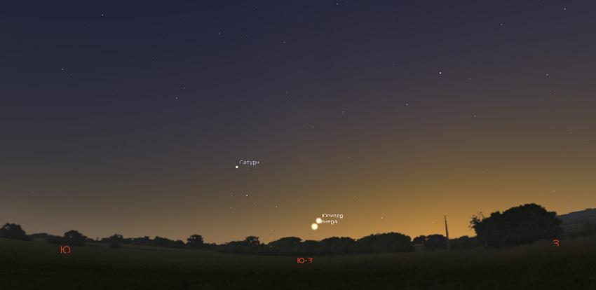 Венера и Юпитер 24 ноября 2019 года