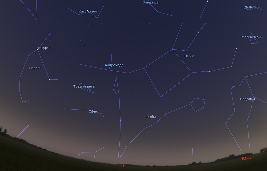созвездия пегаса и андромеды в ноябре