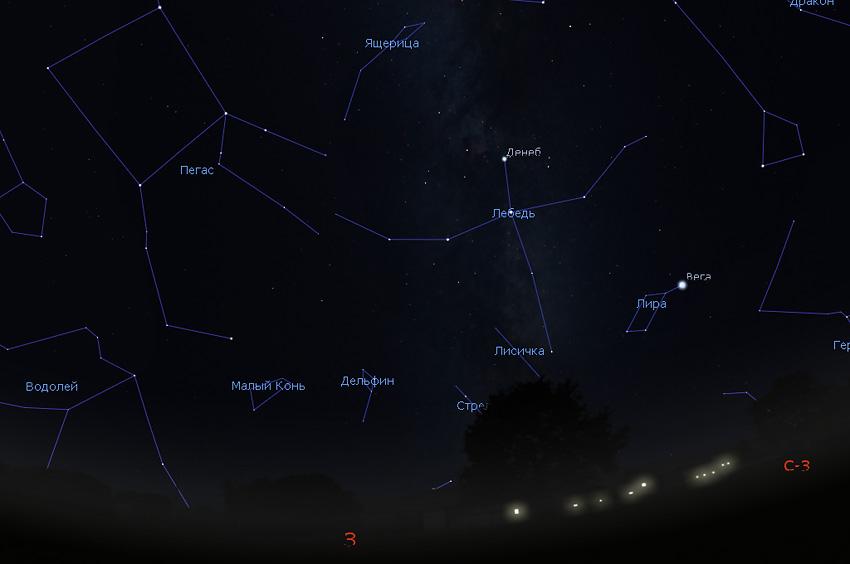 звездное небо в ноябре