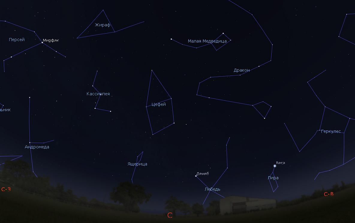звездное небо в ноябре утром